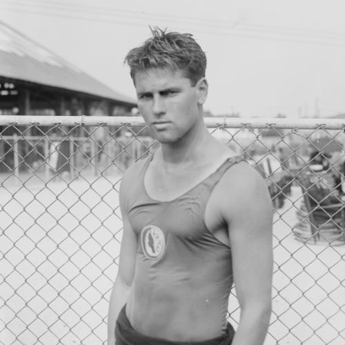 Tom Blake (shown in 1922) left Washburn after dropping out of high school during the 1918 flu pandemic and became a surfing legend in Hawaii and California in the 1920s and '30s. His design of a lighter, hollow board transformed the sport.