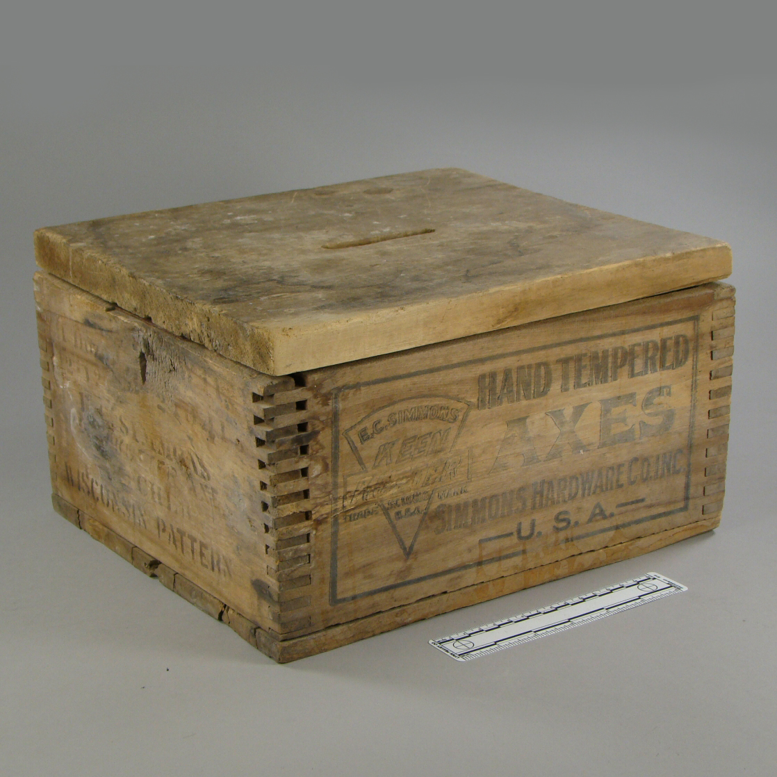 Ballot Box used in Town of Weston, Clark County, Wisconsin, ca. 1915.
