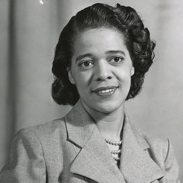 Portrait of Mrs. Vel Rodgers Phillips which links to Vel Phillips Papers