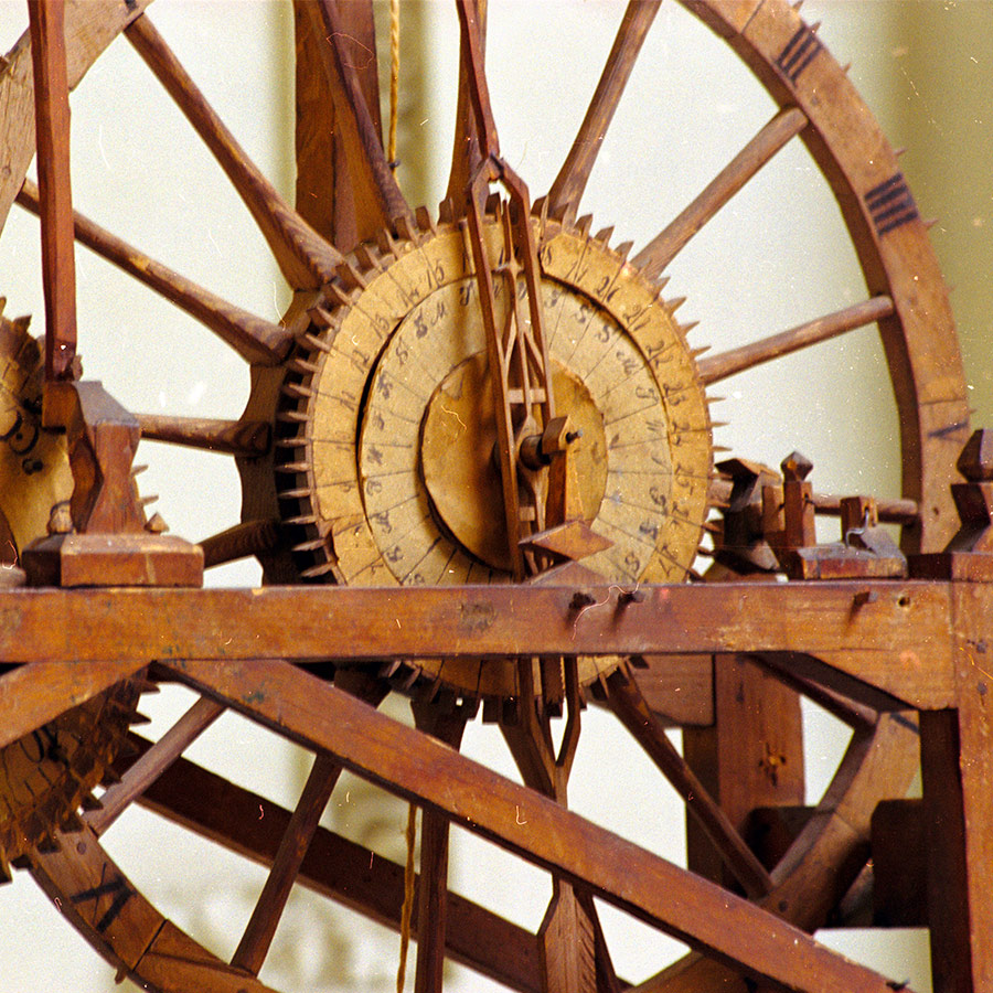 John Muir's clock inner-workings