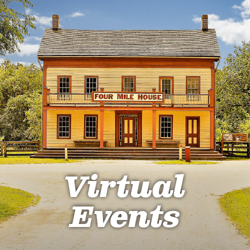 Four Mile House at Old World Wisconsin. Click for Virtual Events