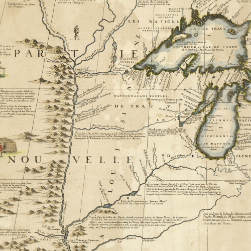 A Historic Map of Wisconsin